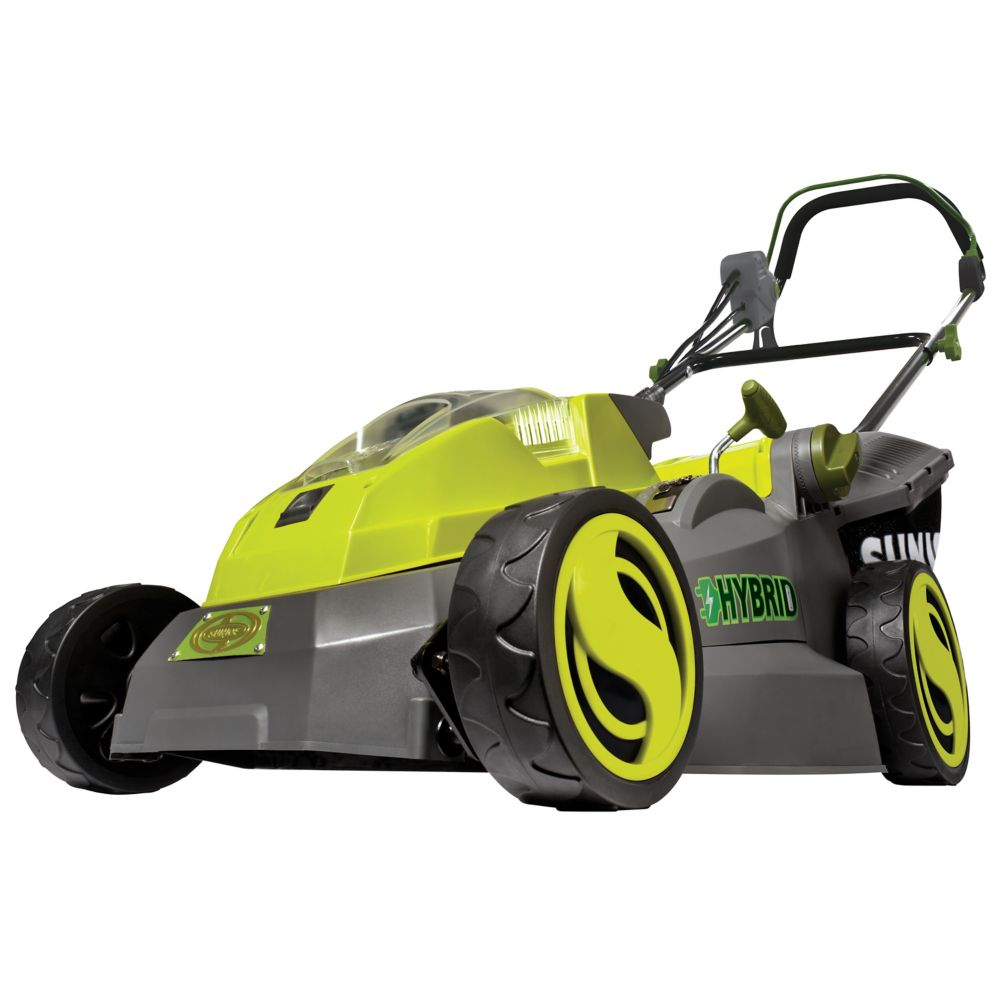 Ion 40v Hybrid Cordless Or Electric 16-Inch Lawn Mower