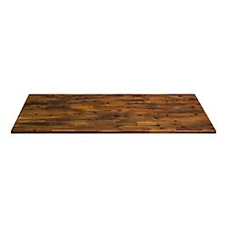 Home Decorators Collection 72 inch x 25.5 inch x 1 inch, Acacia Kitchen Countertop, Brown