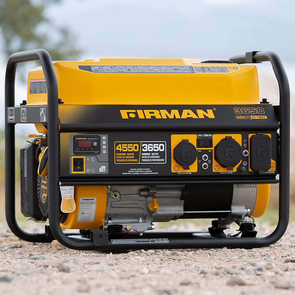 Firman Generators 4550/3650 Watt 120/240V 30A Groupe électrogène portable à essence Recoil Start Certifié cETL