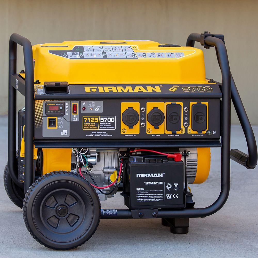 FIRMAN 7100/5700 Watt 120/240V Remote Start Gas Portable Generator cETL Certified