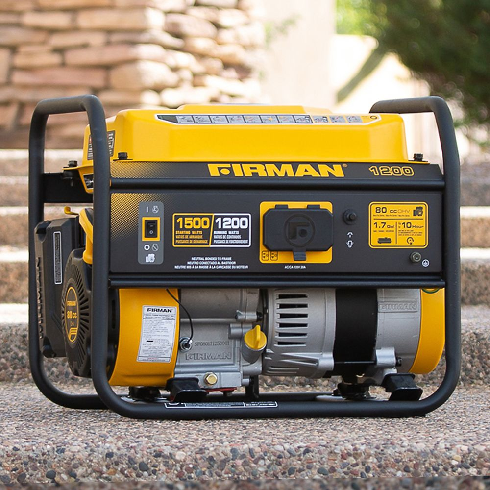 FIRMAN 1500/1200 Watt Recoil Start Gas Portable Generator cETL and CARB Certified