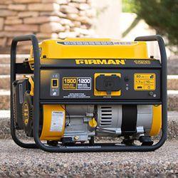 FIRMAN 1500/1200 Watt Recoil Start Gas Portable Generator cETL and CARB Certified