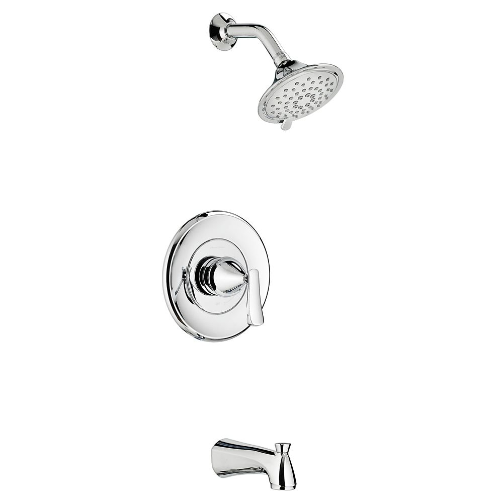 American Standard Chatfield 3-Spray Wall-Mount Tub  Shower Faucet in Chrome with Showerhead