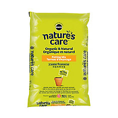 Nature's Care Organic and Natural Potting Mix with Water Conserve(TM) 0.15-0.10-0.15, 28.3L