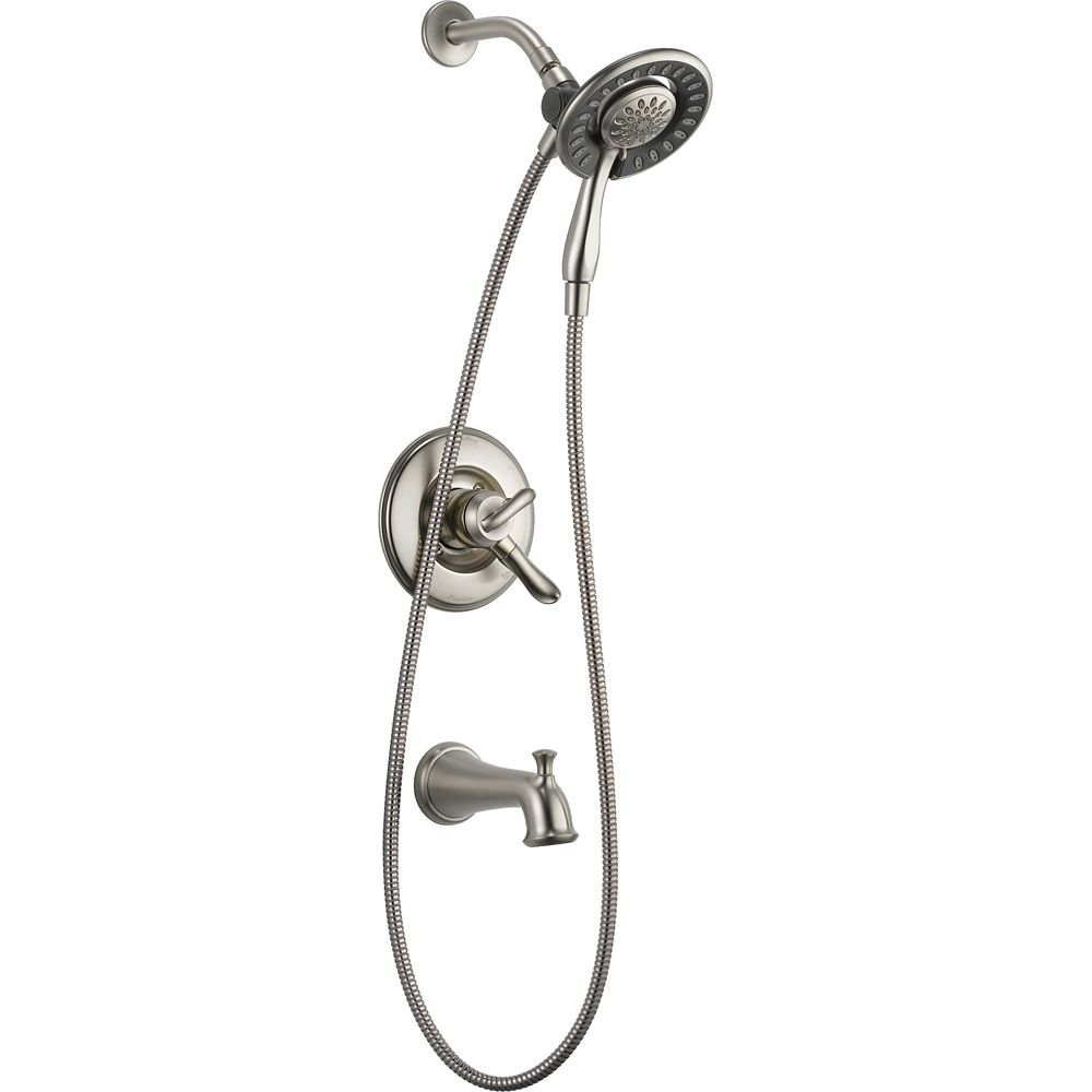 Linden Monitor 17 Series Tub And Shower With In2ition(R) Two-In-One Shower, Stainless Steel