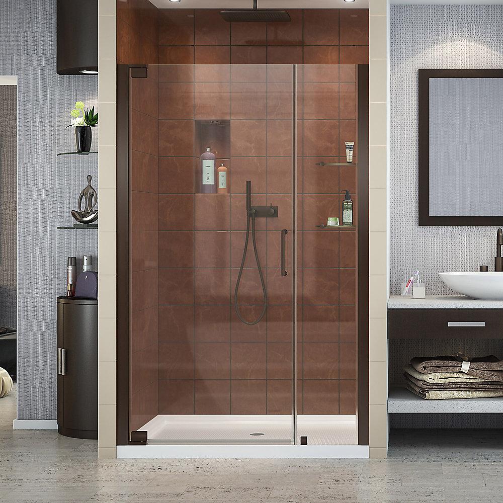 Elegance 47-3/4-inch to 49-3/4-inch x 72-inch Semi-Frameless Pivot Shower Door in Oil Rubbed Bronze