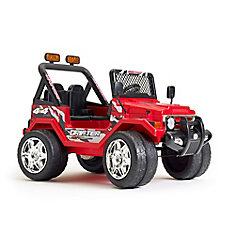12V Jeep Wrangler Ride-On Toy in Red