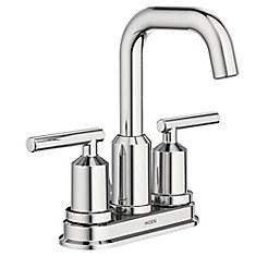 Gibson 4-Inch Centerset 2-Handle High Arc Bathroom Faucet with Lever Handles in Chrome