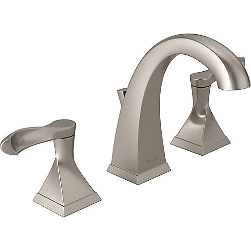 Everly Widespread (8-inch) 2-Handle High Arc Bathroom Faucet in Brushed Nickel with Lever Handles