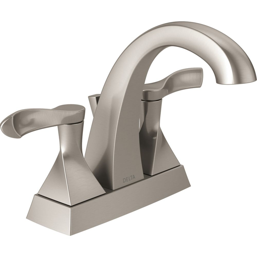 Delta Everly 4-inch Centreset 2-Handle Bathroom Faucet in SpotShield Brushed Nickel
