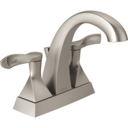 Delta Everly 4-inch Centreset 2-Handle Bathroom Faucet in SpotShield Brushed Nickel