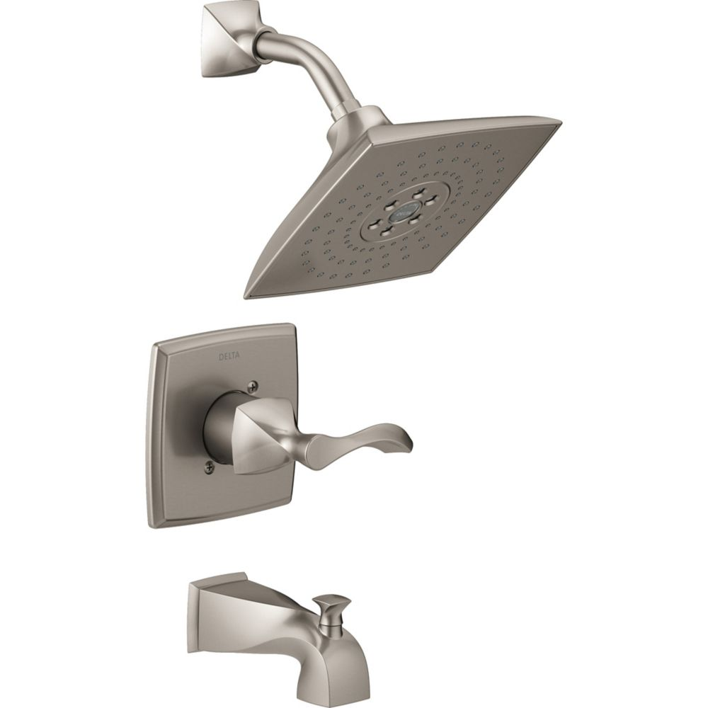 Everly Monitor 14 Series H2Okinetic Tub and Shower in SpotShield Brushed Nickel