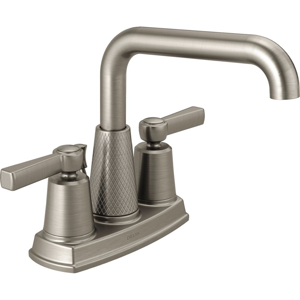 Delta Allentown Centerset (4-inch) 2-Handle High Arc Bathroom Faucet in Brushed Nickel with Lever Handles