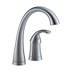 Pilar Single Handle Bar/Prep Faucet, Arctic Stainless