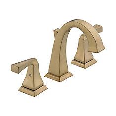 Dryden Widespread (8-inch) 2-Handle Mid Arc Bathroom Faucet in Bronze with Lever Handles