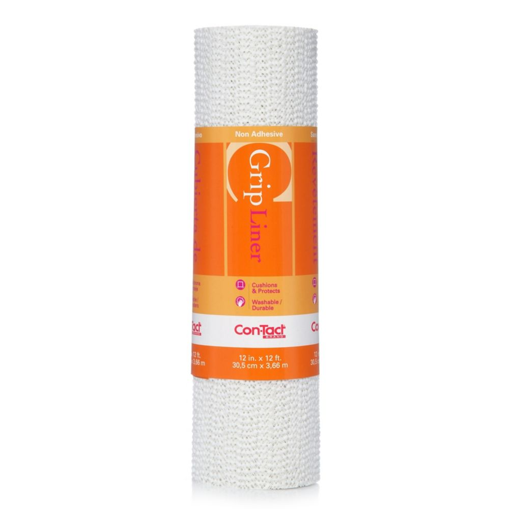 Con-Tact Grip White 12 inch x 12 ft