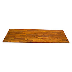 Home Decorators Collection 72-inch x 25.5-inch x 1-inch, Acacia Kitchen Countertop in Golden Teak
