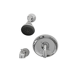Cadet 1-Spray Wall-Mount Tub  Shower Faucet in Chrome with Showerhead