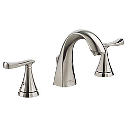 Chatfield Widespread (8-inch) 2-Handle High Arc Bathroom Faucet in Brushed Nickel with Lever Handles