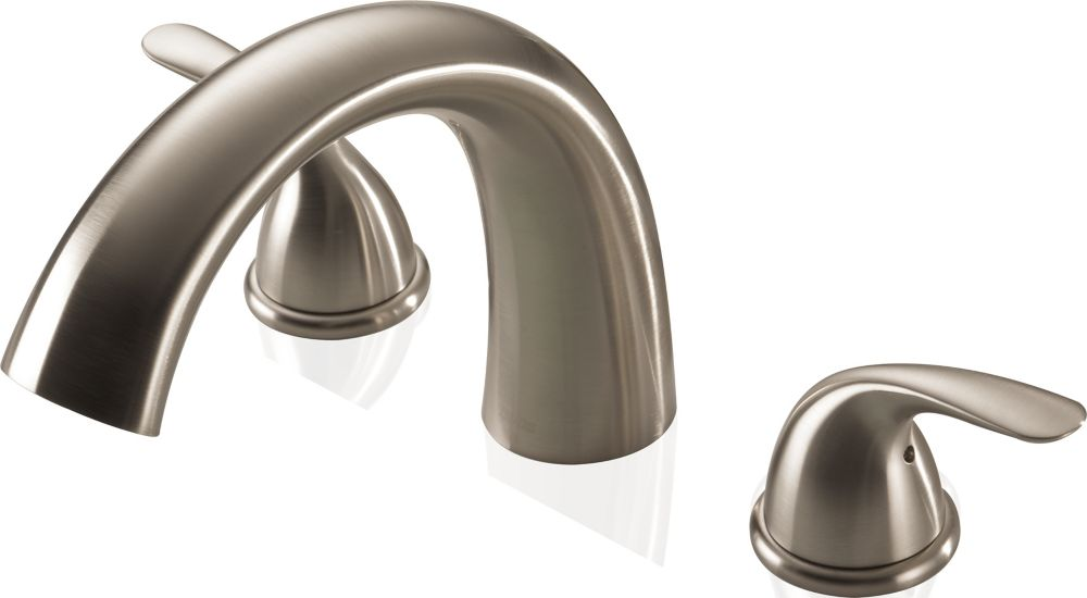 Delta Two Handle Roman Tub Complete Rough and Trim, Stainless