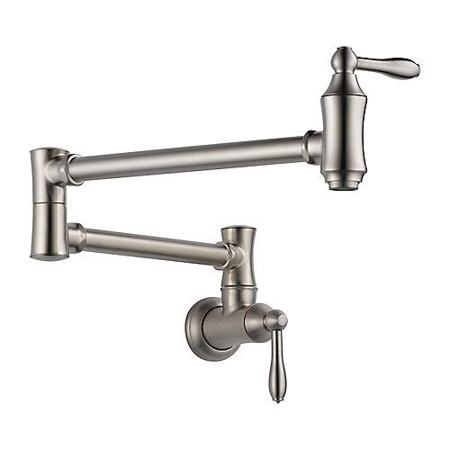Pot Filler Faucet - Wall Mount, Stainless