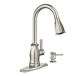 MOEN Hensley Single-Handle Pull-Down Sprayer Kitchen Faucet with Reflex in Spot Resist Stainless