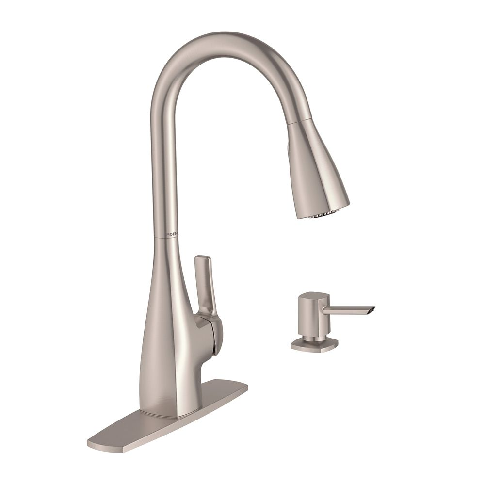 Moen Kiran Single-Handle Pull-Down Kitchen Faucet in Spot Resist Stainless Finish