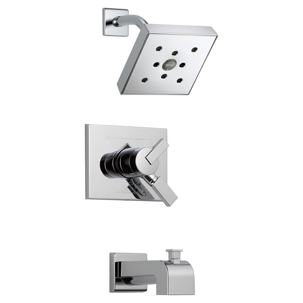 Garniture de baignoire et douche Vero MonitorMD série 17, chrome
