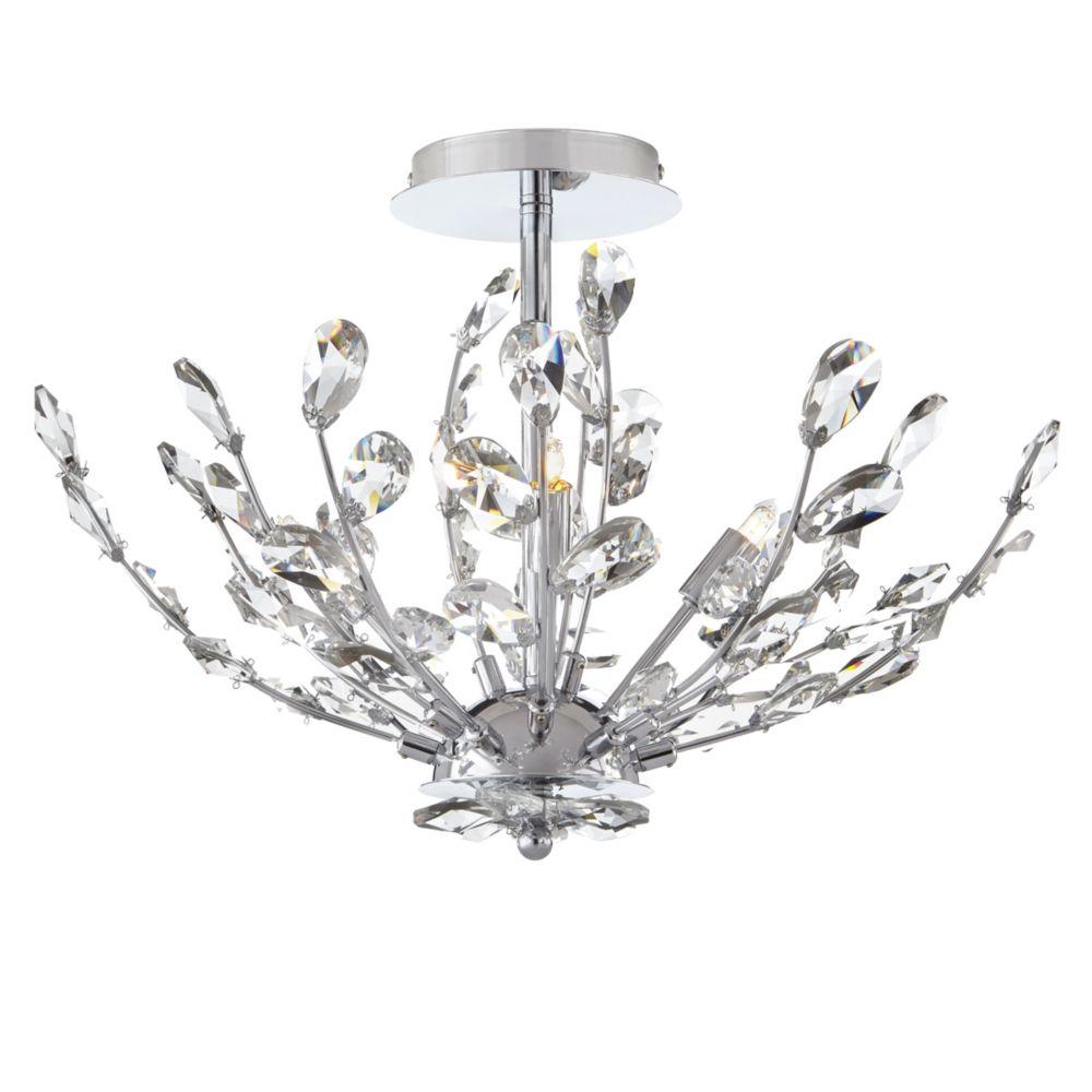 Home Decorators Collection  Plafonnier à4ampoules orné de cristaux, chromé