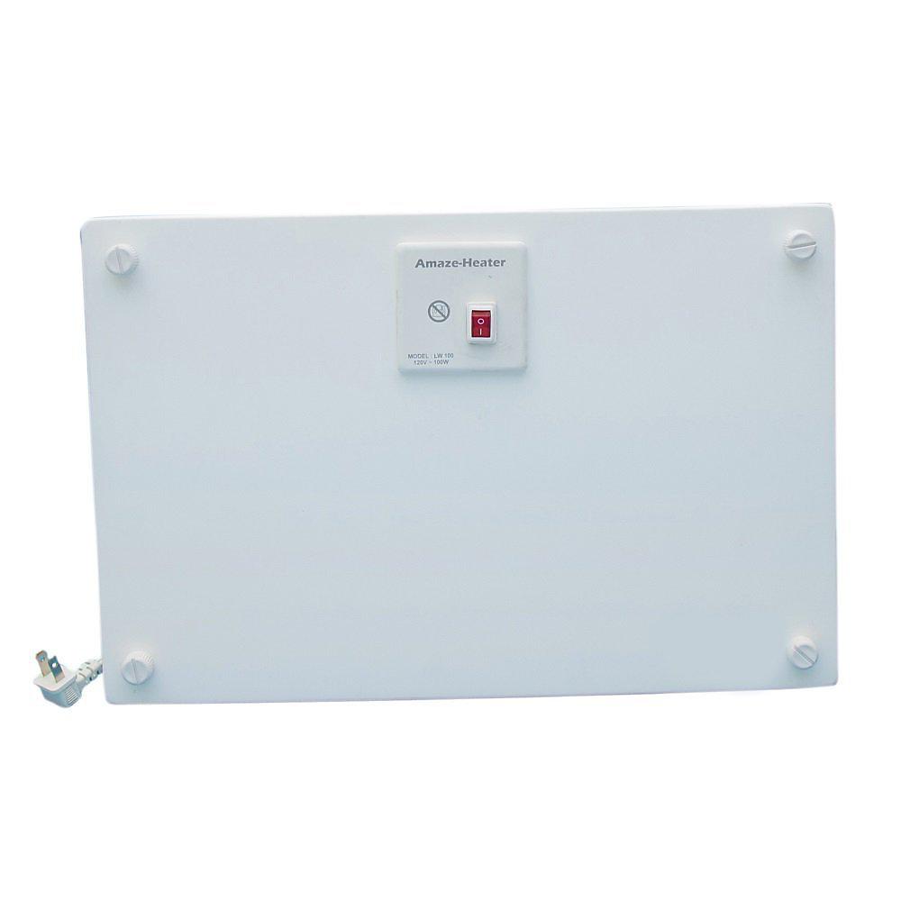 100 watts électrique en céramique sous le chauffe-espace de bureau avec supports Ezymount