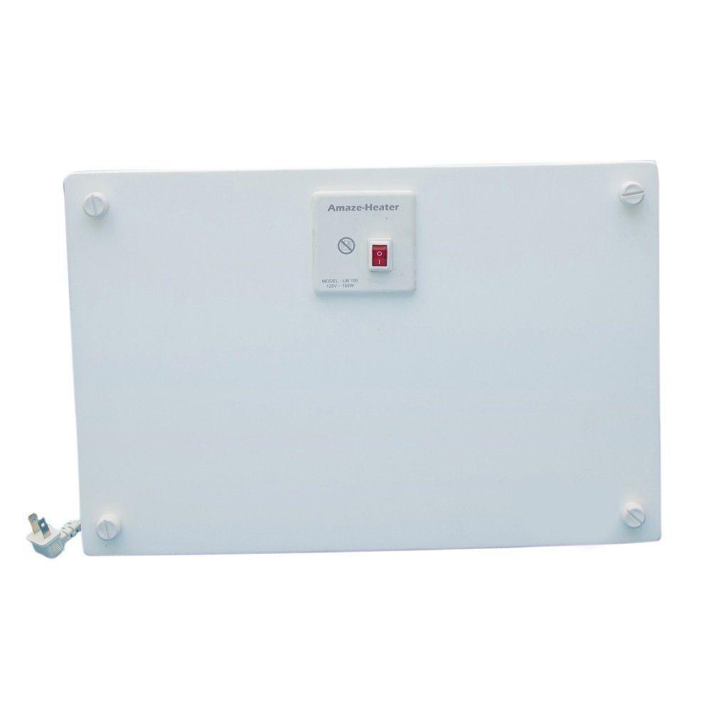 Amaze-Heater 100-Watt Ceramic Electrical Under The Desk Space Heater With Ezymount Stands