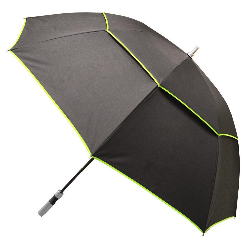 Rainbrella Black with Green Trim Manual Open Vented-XL