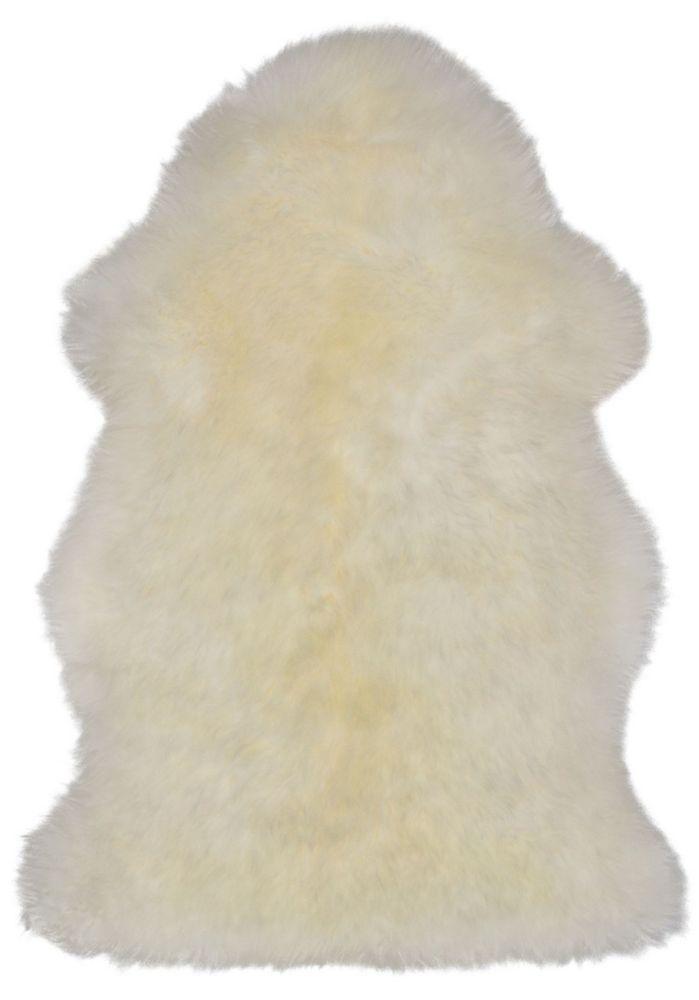 Luxurious Sheepskin Ivory Sheepskin Rug 2Feet x 3Feet Area Rug