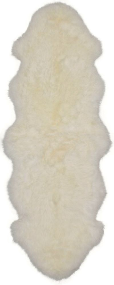 Luxurious Sheepskin Ivory Sheepskin Rug 2Feet x 6Feet Area Rug