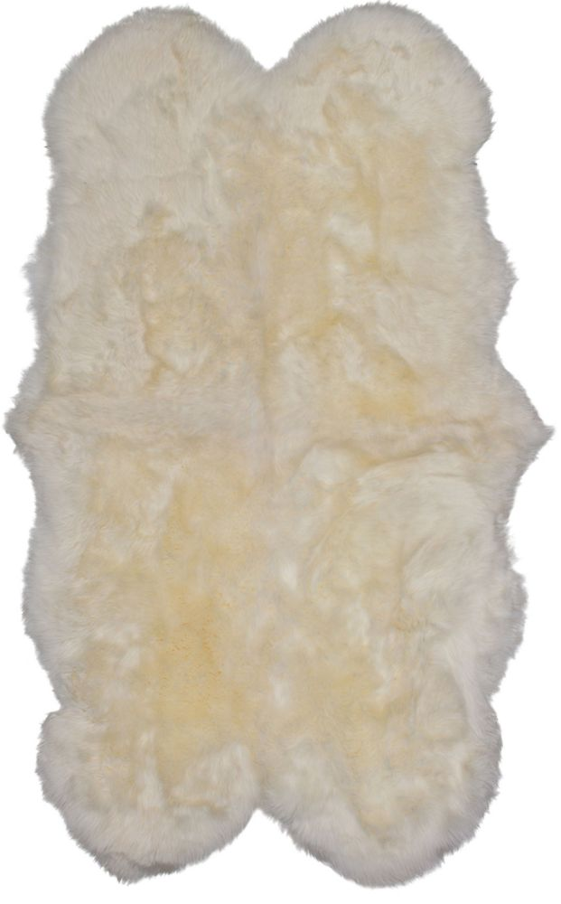 Luxurious Sheepskin Ivory Sheepskin Rug 3Feet 6in. x 6Feet  Area Rug