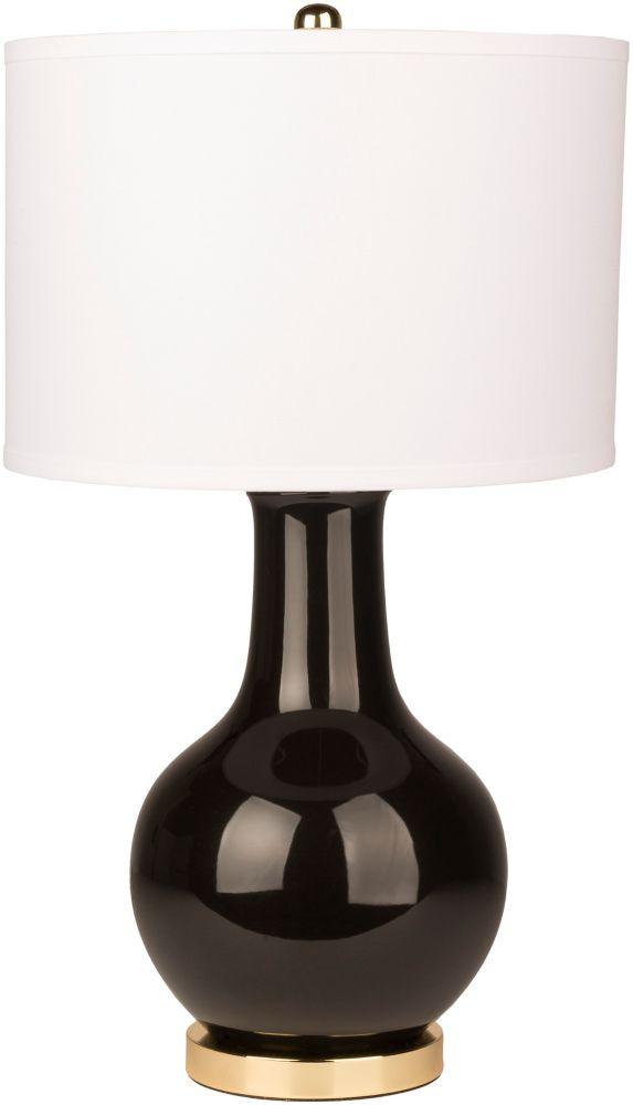 Art of Knot Rigonz 26.5-inch Black Table Lamp with White Shade