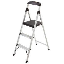 Gorilla Ladders Escabeau léger à trois marches, aluminium