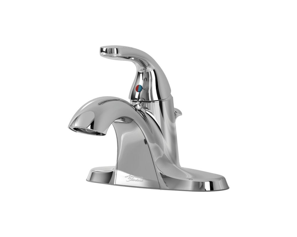 American Cadet Centerset (4-inch) 1-Handle Low Arc Bathroom Faucet in Chrome with Lever Handle