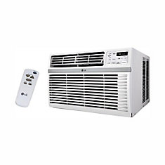 10,000 BTU 115-Volt Smart Wi-Fi Window Air Conditioner with Remote