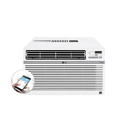 Climatiseur de fenêtre Wi-Fi intelligent de 12 000 BTU 115V avec télécommande
