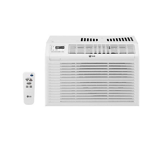 Climatiseur de fenêtre de 6,000 BTU 115V avec télécommande