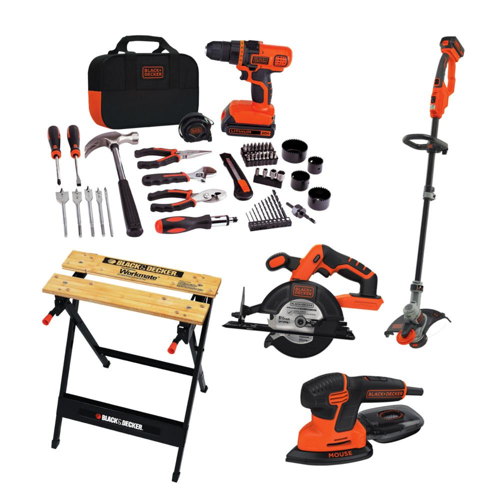 BLACK+DECKER Garage 6 Piece Combo Kit