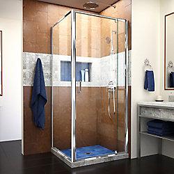 Flex 28-7/16-inch to 32-7/16-inch x 30-1/2-inch x 72-inch Framed Pivot Shower Door in Chrome