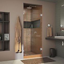 Unidoor Lux 30-inch x 72-inch Frameless Pivot Shower Door in Chrome