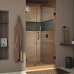 DreamLine Unidoor Lux 37-inch x 72-inch Frameless Pivot Shower Door in Oil Rubbed Bronze with Handle