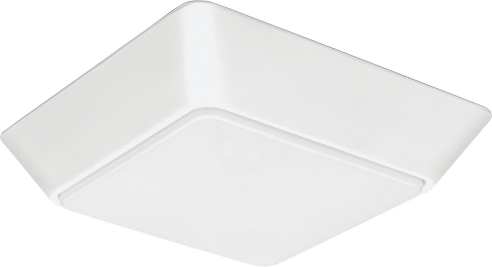 Versi Lite 28-Watt Textured White Integrated square LED Flushmount - ENERGY STAR®