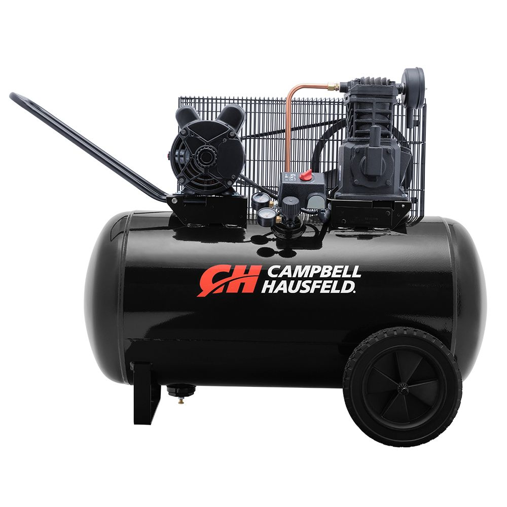 Campbell Hausfeld Air Compressor, 30 Gallon  Portable  10.2CFM 3.7HP 208-230V 1PH (VT6104)