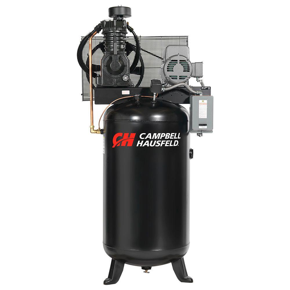 Campbell Hausfeld Air Compressor, 80 Gallon   17.2CFM 5HP 208-230V 1PH (CE7050)