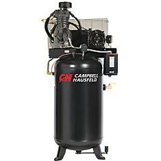 Air Compressor, 80 Gallon Fully Packaged   17.2CFM 5HP 208-230V 1PH (CE7050FP)