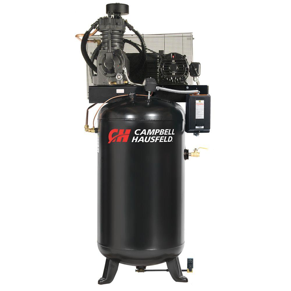 Campbell Hausfeld Compresseur d'air de 302,80 litres emballé 17.2CFM 5HP 208-230/460V 3PH (CE7051...